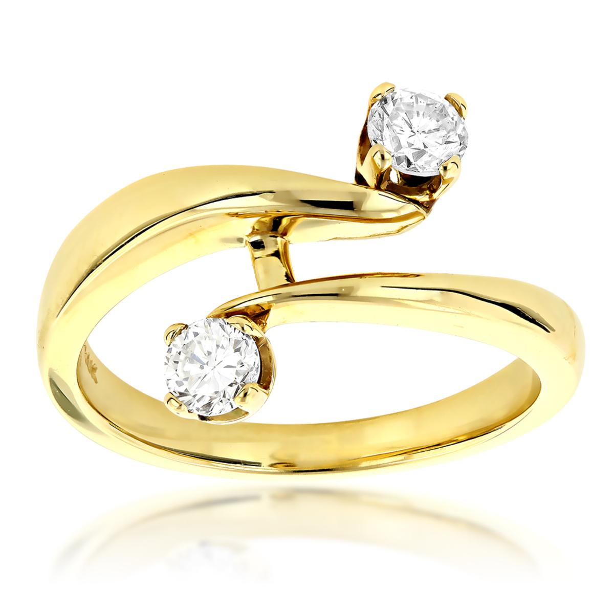 14K Gold Right Hand Ladies Diamond Ring 0.50ct