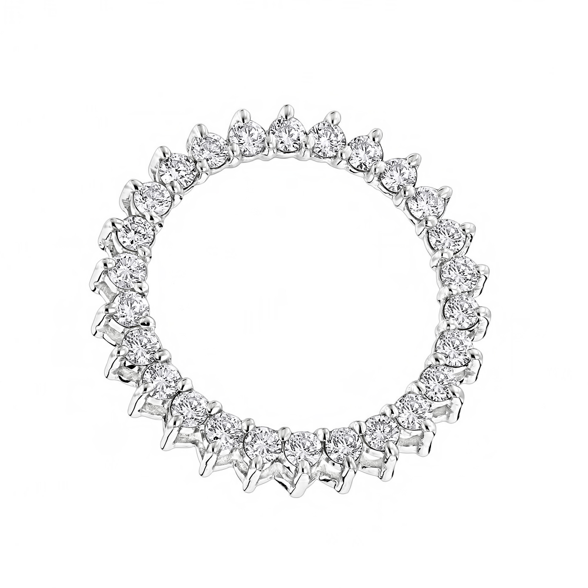 14k gold round diamond circle of love pendant 1 carat aloadofball Choice Image
