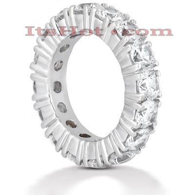 14K Gold Round Diamond Eternity Band 5.60ct