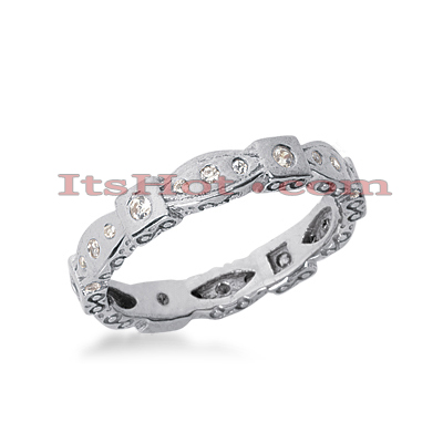 14K Gold Round Diamond Eternity Ring 0.24ct