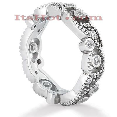 14K Gold Round Diamond Eternity Ring 0.36ct