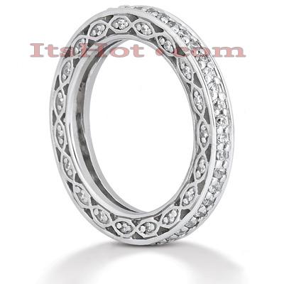 Thin 14K Gold Round Diamond Eternity Ring 0.63ct