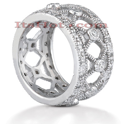14K Gold Round Diamond Eternity Ring 0.67ct