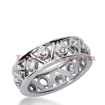 14K Gold Round Diamond Eternity Ring 0.70ct