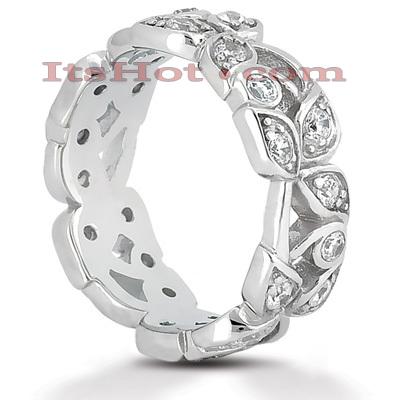 14K Gold Round Diamond Eternity Ring 0.72ct