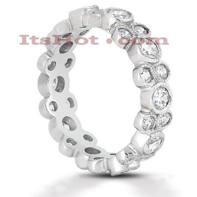 14K Gold Round Diamond Eternity Ring 1.44ct