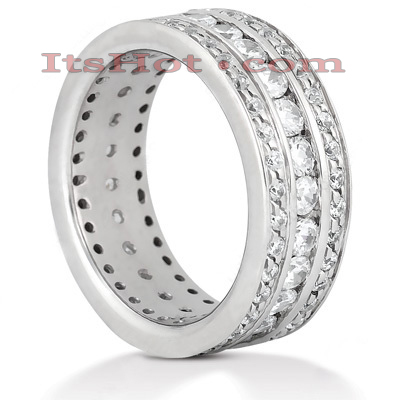 14K Gold Round Diamond Eternity Ring 1.90ct