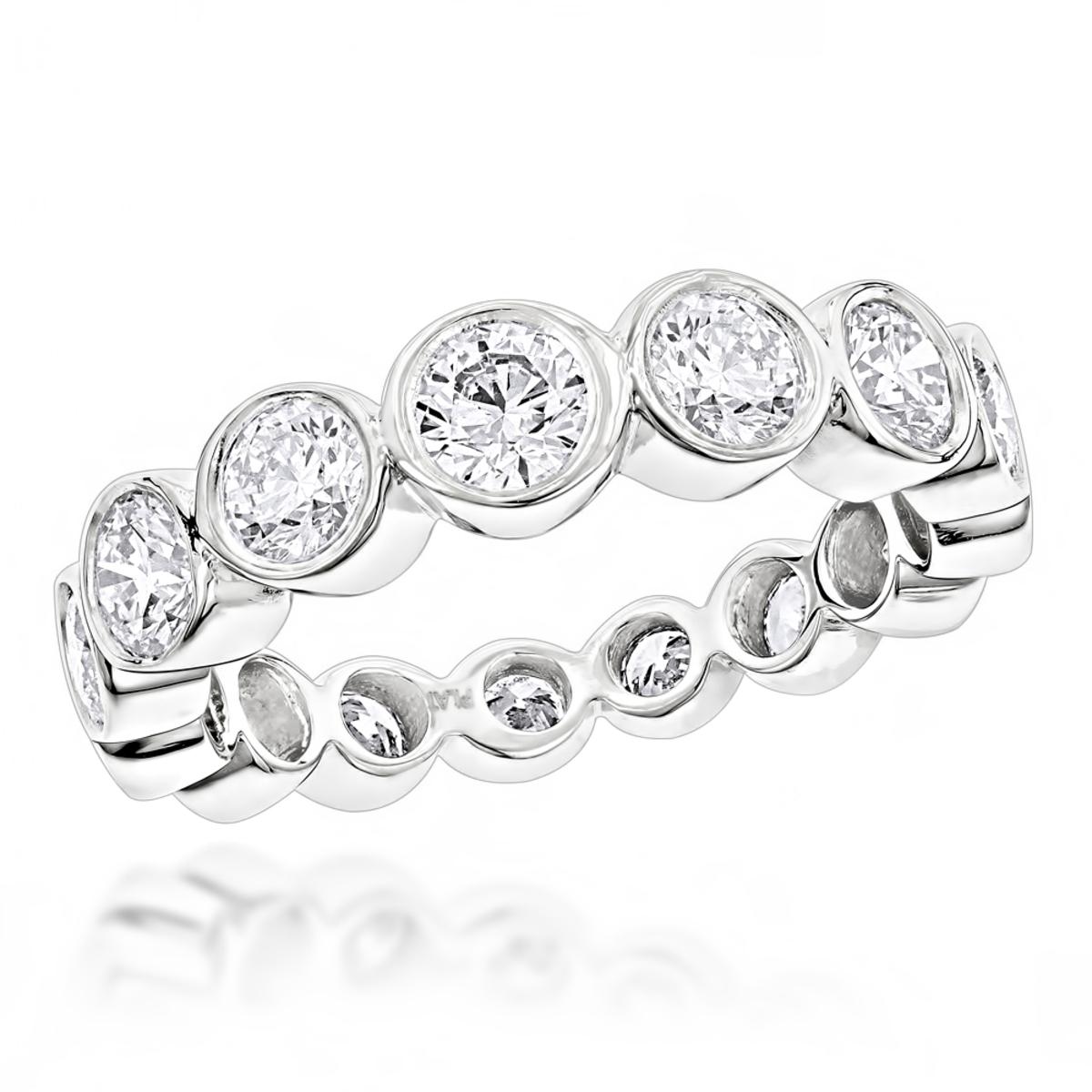 14K Gold Round Diamond Eternity Ring 2.09ct