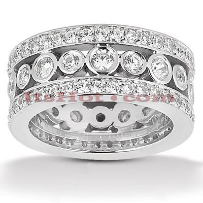 14K Gold Round Diamond Eternity Ring 2.48ct