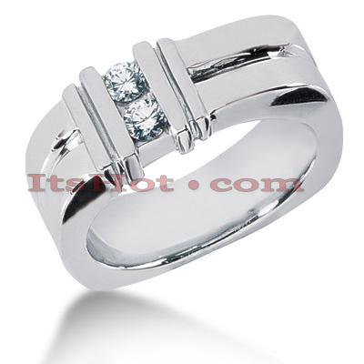 14K Gold Round Diamond Men's Wedding Band 0.30ct
