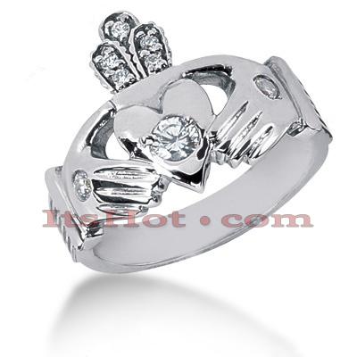 14K Gold Round Diamond Mens Wedding Ring 0.34ct