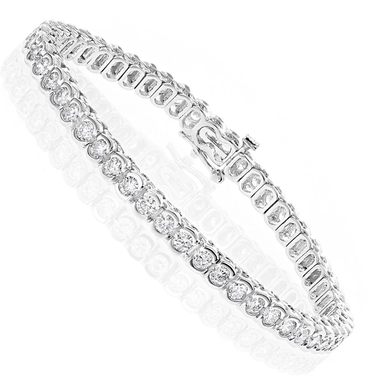 14K Gold Round Diamond Tennis Bracelet  4.70ct
