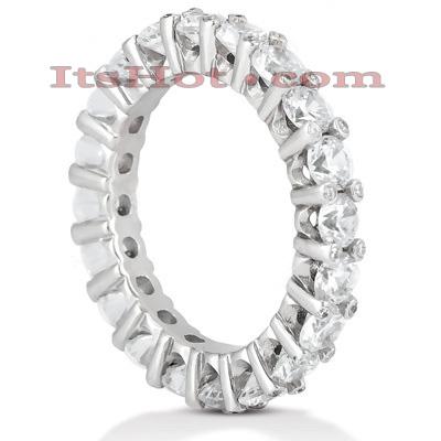 Thin 14K Gold Round Diamonds Eternity Band 3.10ct