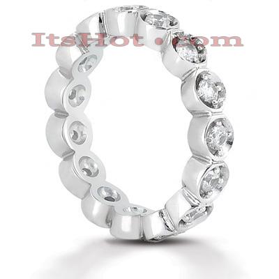 14K Gold Round Diamonds Eternity Ring 0.60ct