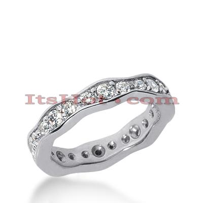 14K Gold Round Diamonds Eternity Ring 0.88ct