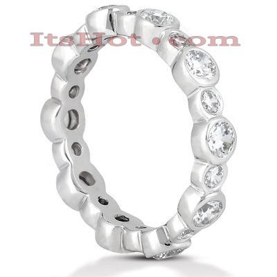 Thin 14K Gold Round Diamonds Eternity Ring 1.30ct