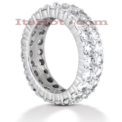 14K Gold Round Diamonds Eternity Ring 4.60ct