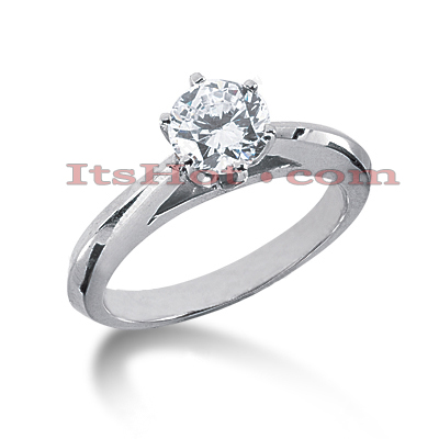 14K Gold Six-Prong Solitaire Engagement Ring 0.40ct