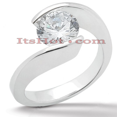 14K Gold Solitaire Engagement Ring 0.33ct
