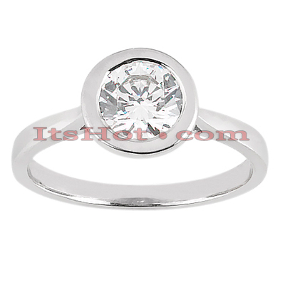 14K Gold Solitaire Engagement Ring 0.50ct