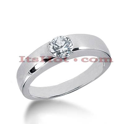14K Gold Solitaire Engagement Ring 0.60ct