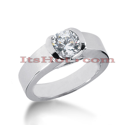 14K Gold Solitaire Engagement Ring 1ct