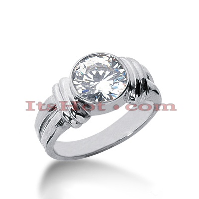 14K Gold Solitaire Engagement Ring 2ct