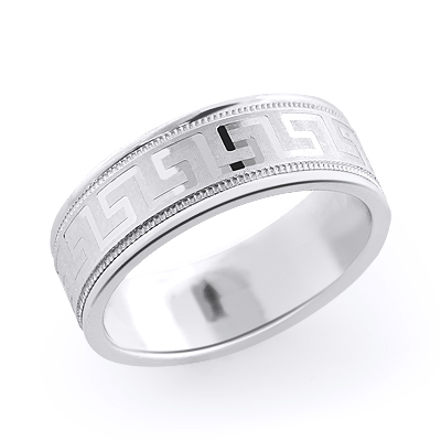 14K Gold Textured Wedding Band for Men
