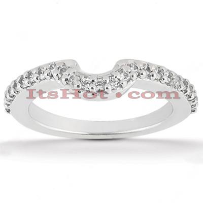 Ultra Thin 14K Gold Unique Diamond Engagement Band 0.24ct