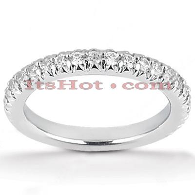 Thin 14K Gold Unique Diamond Engagement Band 0.87ct