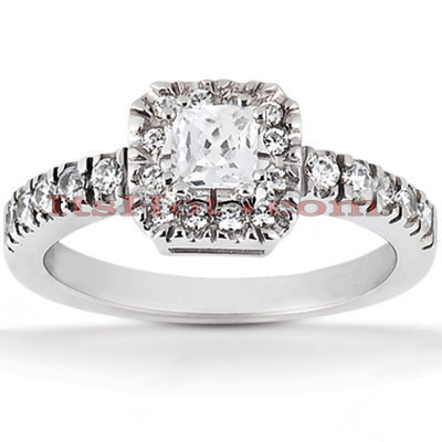 14K Gold Unique Diamond Engagement Ring 0.47ct