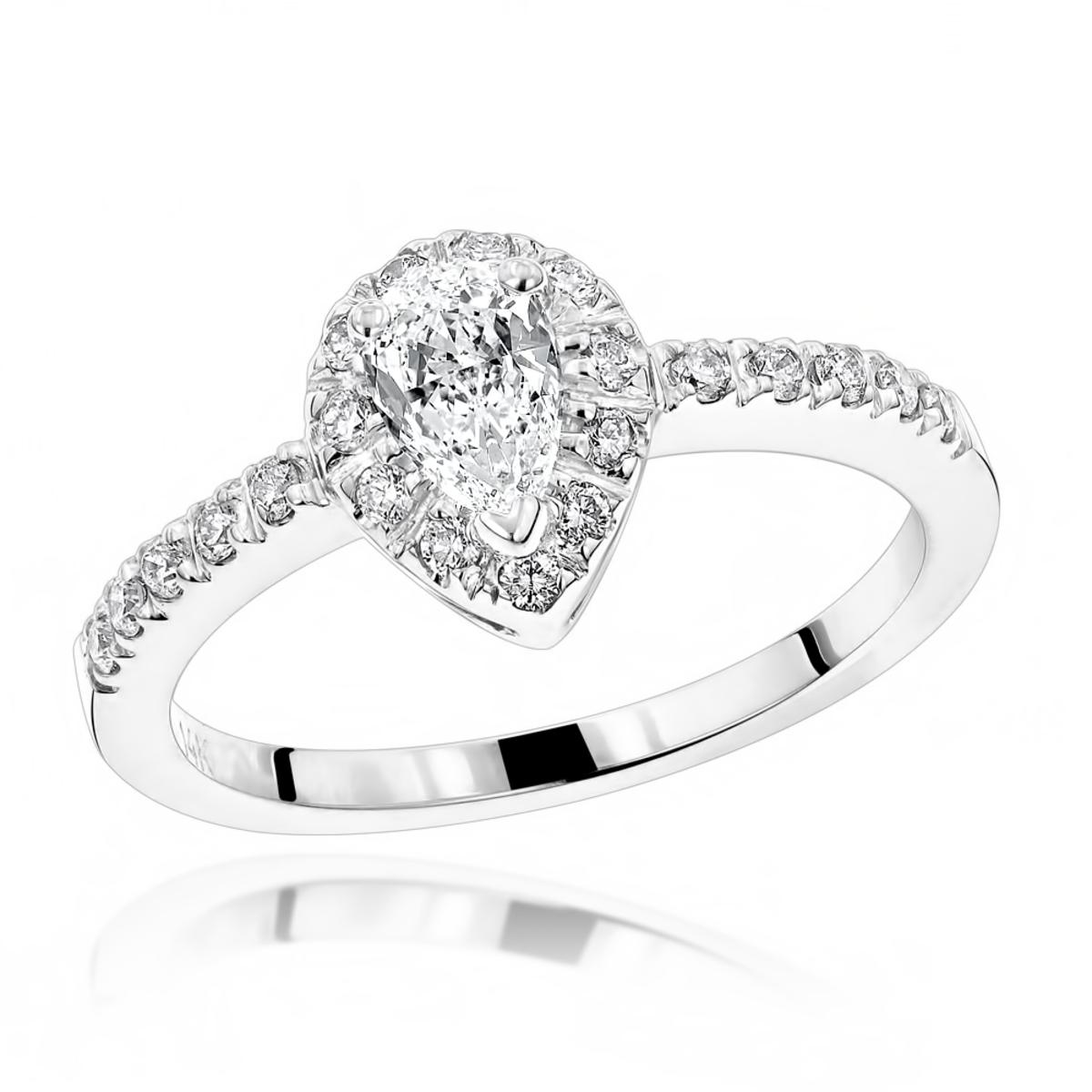 14K Gold Unique Diamond Engagement Ring 0.50ct