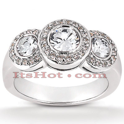14K Gold Unique Diamond Engagement Ring 0.51ct