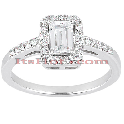 14K Gold Unique Diamond Engagement Ring 0.53ct
