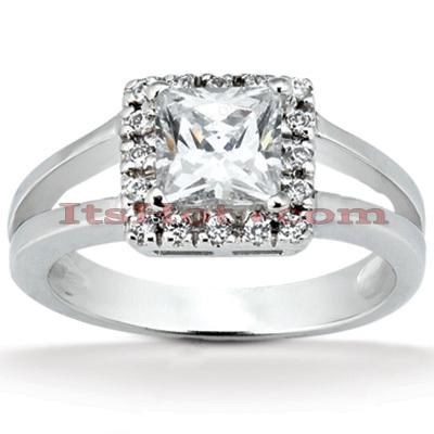 14K Gold Unique Diamond Engagement Ring 0.56ct