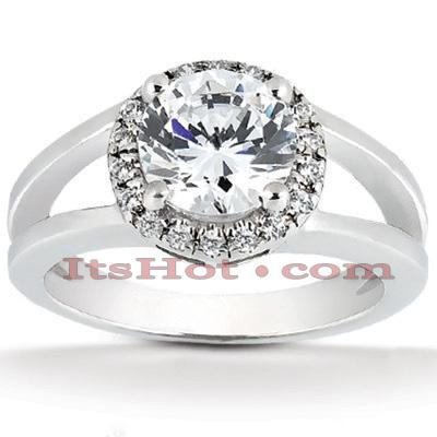 14K Gold Unique Diamond Engagement Ring 0.60ct