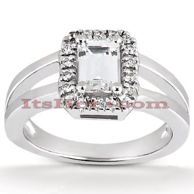 14K Gold Unique Diamond Engagement Ring 0.64ct