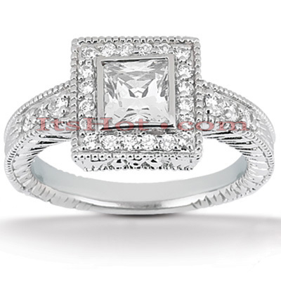 14K Gold Unique Diamond Engagement Ring 0.67ct