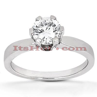 14K Gold Unique Diamond Engagement Ring 0.67ct