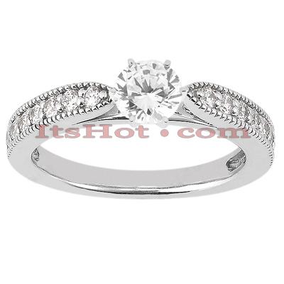 14K Gold Unique Diamond Engagement Ring 0.68ct