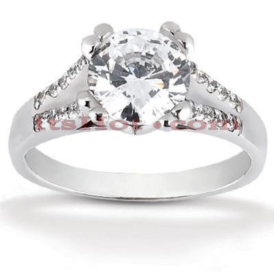 14K Gold Unique Diamond Engagement Ring 0.70ct