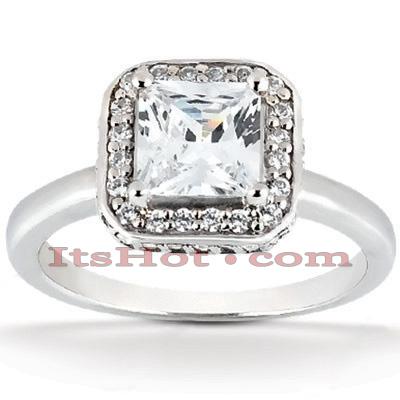 14K Gold Unique Diamond Engagement Ring 0.71ct