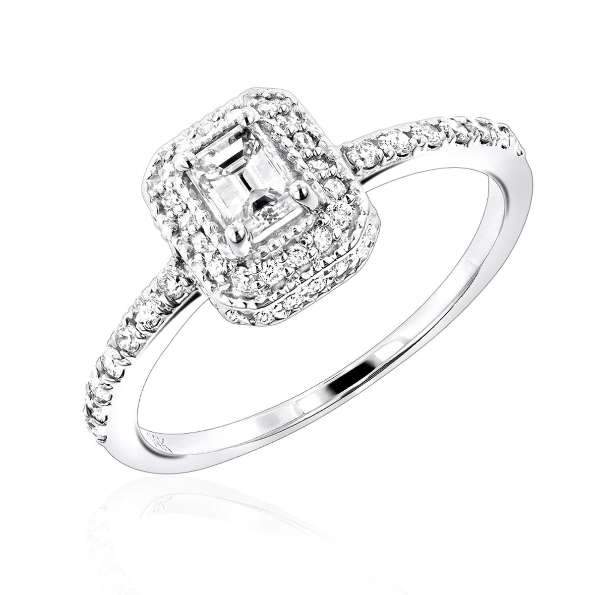 14K Gold Unique Diamond Engagement Ring 0.75ct