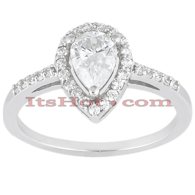 14K Gold Unique Diamond Engagement Ring 0.78ct