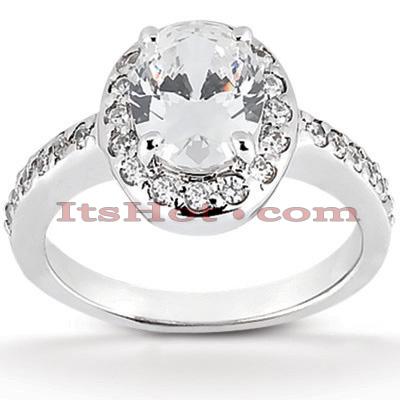 14K Gold Unique Diamond Engagement Ring 0.82ct