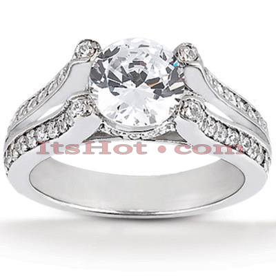14K Gold Unique Diamond Engagement Ring 0.85ct