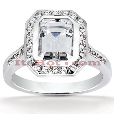 14K Gold Unique Diamond Engagement Ring 0.87ct