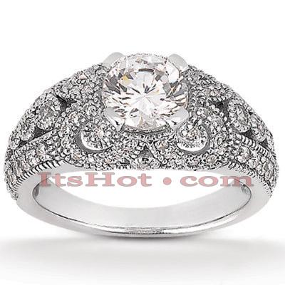 14K Gold Unique Diamond Engagement Ring 0.89ct