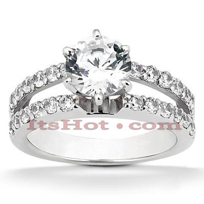 14K Gold Unique Diamond Engagement Ring 0.90ct