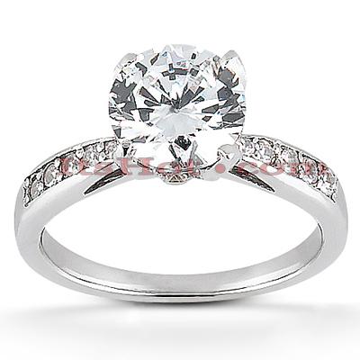 14K Gold Unique Diamond Engagement Ring 0.91ct